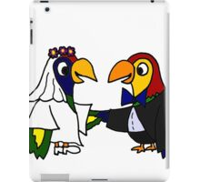 Cool Funny Parrot Birds Bride and Groom Art iPad Case/Skin