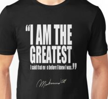 I AM THE GREATEST ALI TSHIRT Unisex T-Shirt