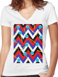 Ziggy Pop Bold Women's Fitted V-Neck T-Shirt