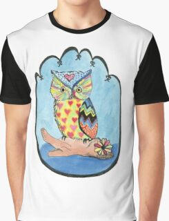 Love Owl on a Log Graphic T-Shirt