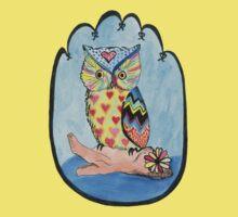 Love Owl on a Log One Piece - Short Sleeve