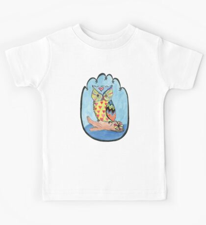 Love Owl on a Log Kids Tee
