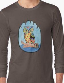 Love Owl on a Log Long Sleeve T-Shirt