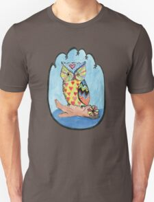 Love Owl on a Log Unisex T-Shirt