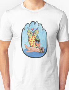 Love Owl on a Log Unisex T-Shirt