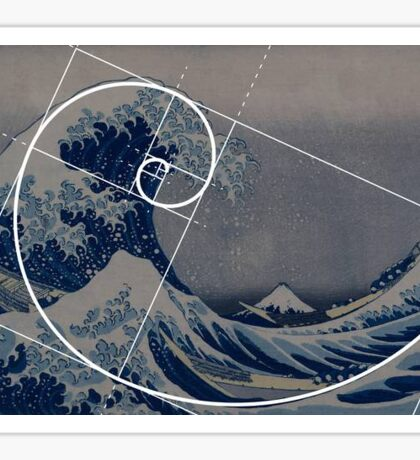 The Golden Ratio Wave Sticker