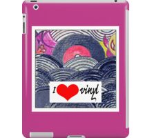 Retro love:I heart vinyl iPad Case/Skin