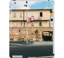 Yellow Residential Building in Italy With Drying Laundry on Washing Line iPad Case/Skin