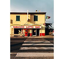 Old-Fashioned Roadside Bar in Rural Italy Photographic Print
