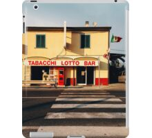 Old-Fashioned Roadside Bar in Rural Italy iPad Case/Skin