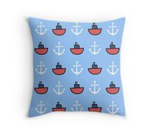 Oh I do like to be beside the sea Throw Pillow