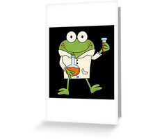 Science Frog Laboratory Experiment Greeting Card