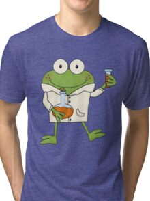 Science Frog Laboratory Experiment Tri-blend T-Shirt