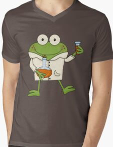 Science Frog Laboratory Experiment Mens V-Neck T-Shirt
