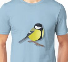 A black tit songbird sitting on a branch	 Unisex T-Shirt
