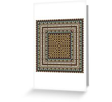 Tribal square on brown Greeting Card