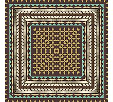 Tribal square on brown Photographic Print