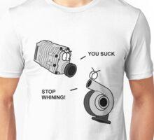 Turbo vs. Supercharger Unisex T-Shirt