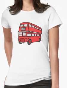London Red Bus - British icon Womens Fitted T-Shirt