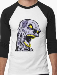 Zombie Head Men's Baseball ¾ T-Shirt