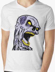 Zombie Head Mens V-Neck T-Shirt