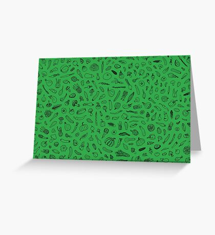 Vegetables - green - Greeting Card