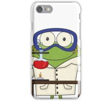Frog Doing Science Experiments in Laboratory iPhone Case/Skin