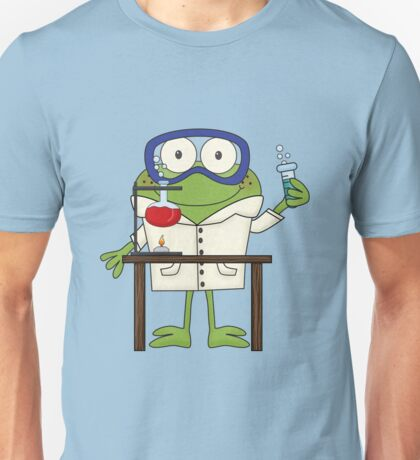 Frog Doing Science Experiments in Laboratory Unisex T-Shirt