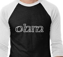 ohm logo Men's Baseball ¾ T-Shirt