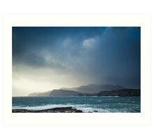 Storm clouds over Sliabh Liag Art Print