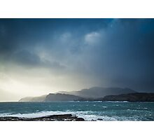 Storm clouds over Sliabh Liag Photographic Print