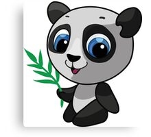 Vector illustration of a wild panda Canvas Print