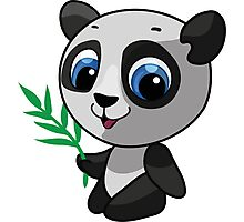 Vector illustration of a wild panda Photographic Print