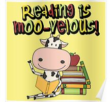 Cow Reading is Moo-velous Reading Awareness Poster