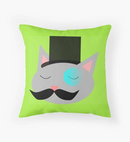 Dapper Cat Throw Pillow