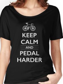 Keep Calm and Pedal Harder Women's Relaxed Fit T-Shirt
