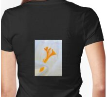 Crocus stamens ~ trumpet Spring Womens Fitted T-Shirt