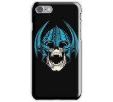 skull with helmet iPhone Case/Skin