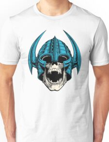 skull with helmet Unisex T-Shirt