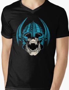 skull with helmet Mens V-Neck T-Shirt