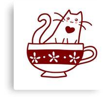 Teacup Kitty Canvas Print