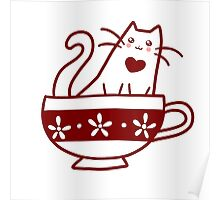 Teacup Kitty Poster