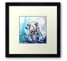 Bear Flame Framed Print