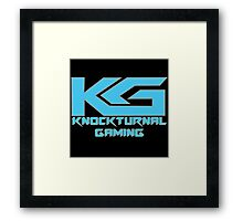 Knockturnal Gaming Logo with name Framed Print