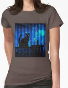 Gothic Cat Womens Fitted T-Shirt