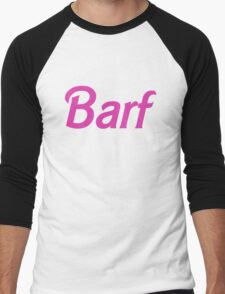 Barf Pink Barbie Letters Men's Baseball ¾ T-Shirt