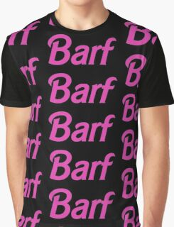 Barf Pink Barbie Letters Graphic T-Shirt