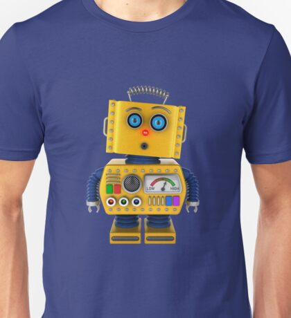 Surprised toy robot Unisex T-Shirt
