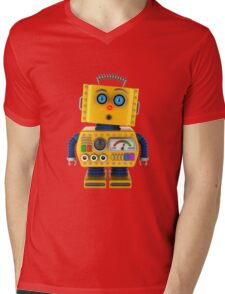Surprised toy robot Mens V-Neck T-Shirt