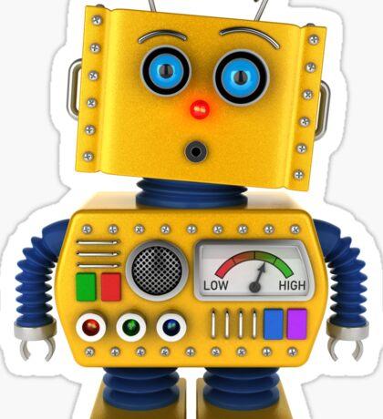 Surprised toy robot Sticker